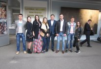 The students visited the National Academic Drama Theatre. Franko